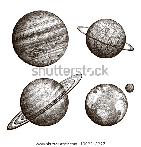 collection of planets in solar...
