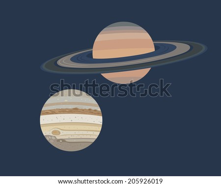 collection of planets  jupiter