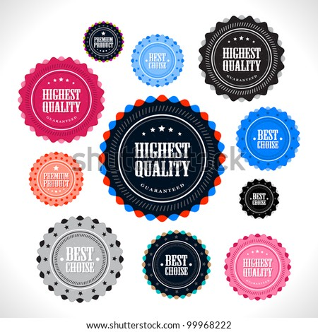 Collection of Premium Quality badges