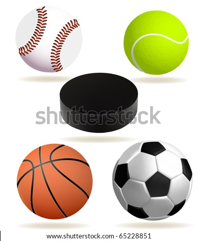 Collection of realistic sports balls (eps10 vector)