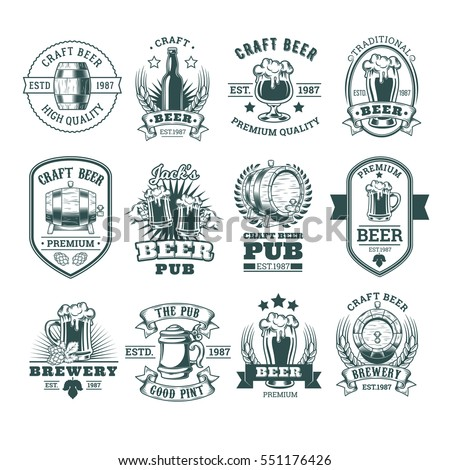 collection of retro beer...