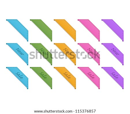 Collection of retro corner ribbons