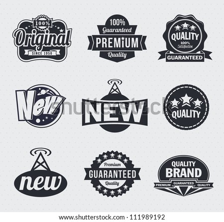 Collection of Retro Vintage style vector labels