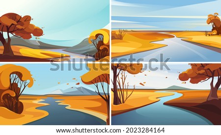collection of river landscapes