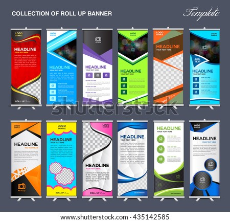 Vector Images, Illustrations and Cliparts: Collection of Roll Up ...