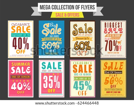 discount and sale brochure flyer poster template for advertising