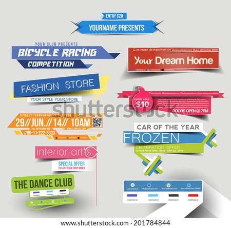 Collection of Sale Discount Styled Website Banner
