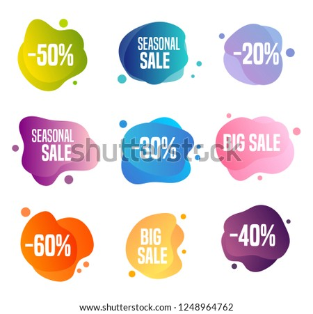 Collection of sales buttons - to use to promote seasonal discounts
