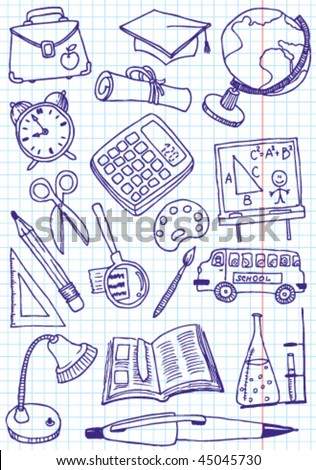 Collection of school (education) doodles