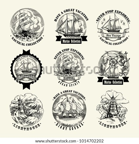 collection of sea illustration