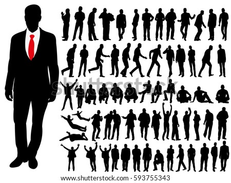 collection of silhouettes of men