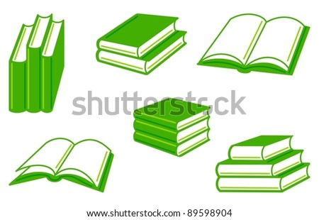 Collection of simple images of books