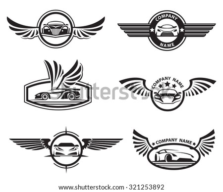 Royaltyfree Crazy Wheels Motorcycle Wheel With Stock - Car sign with wings