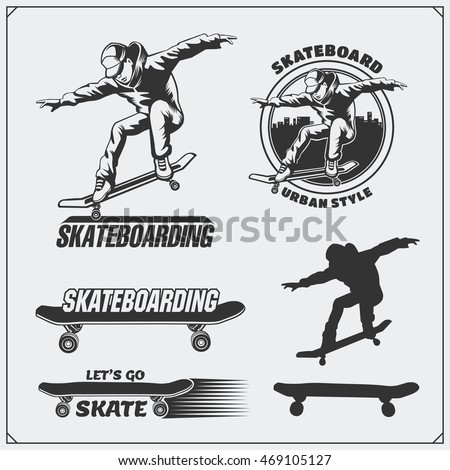 collection of skateboarding