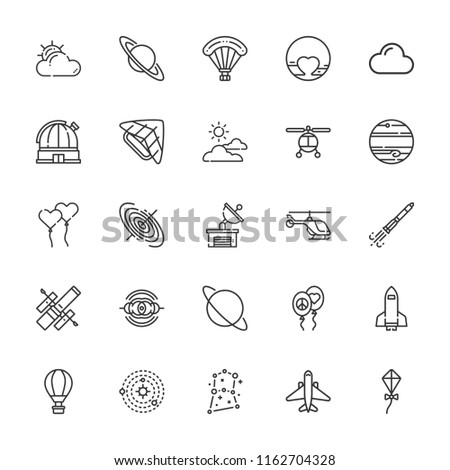 collection of 25 sky outline
