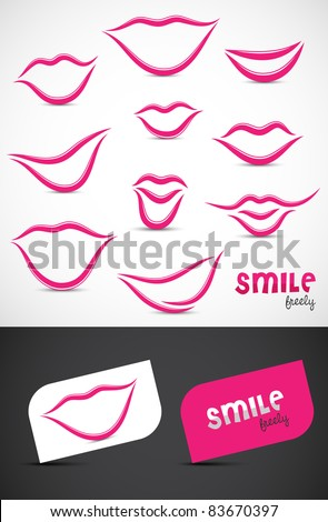 Collection of smile icon such logos, Vector EPS10.