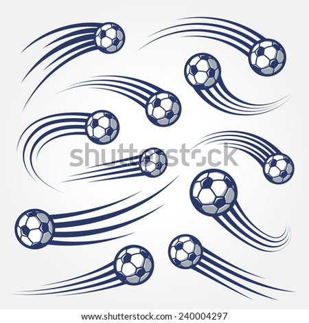collection of soccer balls with
