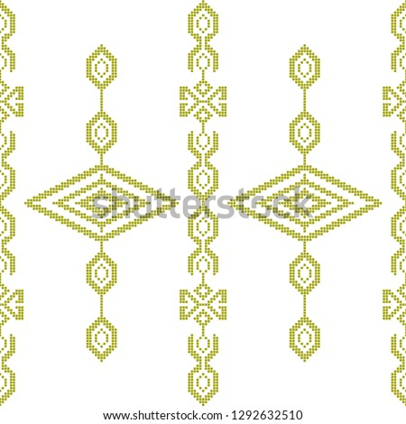 Collection of songket batik patterns on a white background. Vector illustration of trendy trendy in flat style for wrapping paper, textile printing, wallpaper