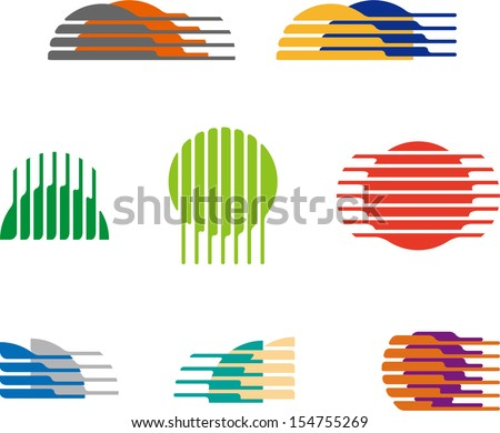 collection of sphere vector