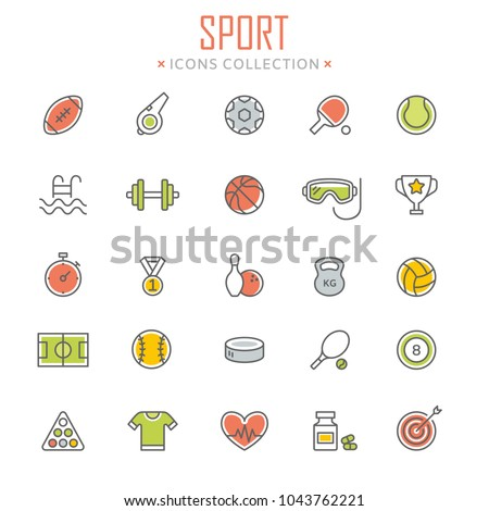 Collection of sport icons. Vector eps 8