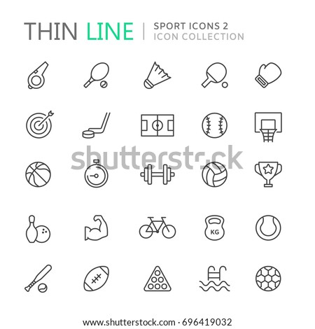 collection of sport thin line