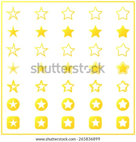 collection of 35 star vector in