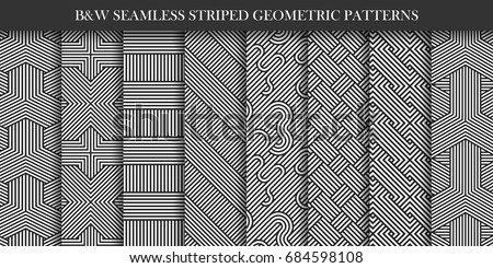 collection of striped patterns