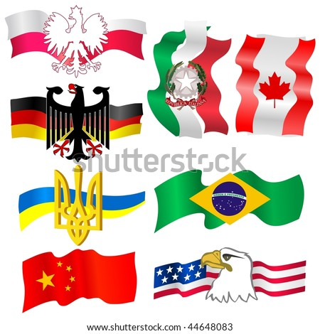 collection of symbols of countries