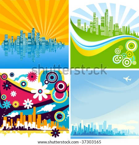 cityscapes wallpaper.  of the best various business backgrounds with waves, cityscapes, flowers