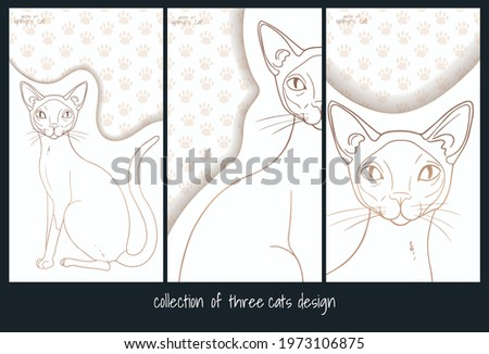 collection of three design with