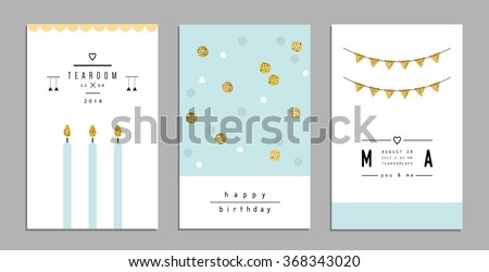 collection of trendy cards and