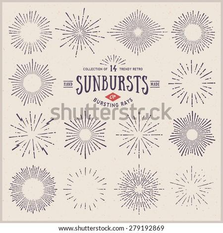 stock-vector-collection-of-trendy-hand-drawn-retro-sunburst-bursting-rays-design-elements