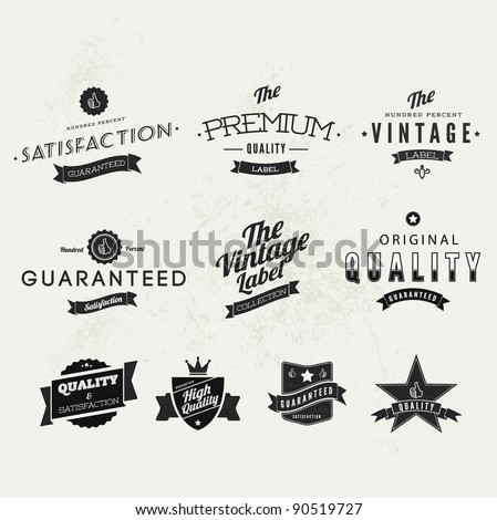 collection of typographic