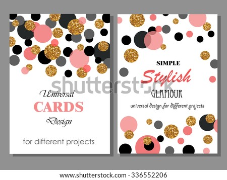 stock-vector-collection-of-universal-modern-stylish-cards-templates-with-golden-geometrical-glitter-dots