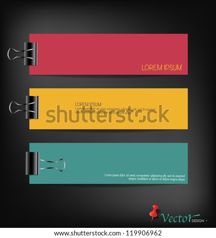 Collection of various papers, ready for your message. Vector illustration.