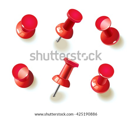 collection of various red push
