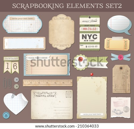 Collection of various scrap-booking vector elements and Templates.