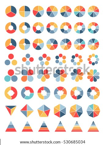 Collection of various simple diagrams ready for modifications Stock photo ©