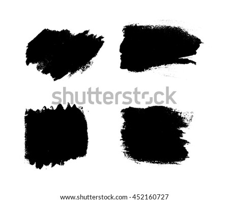 Collection of vector art brushes. Hand crafted custom grunge brushes with rough edges. #452160727