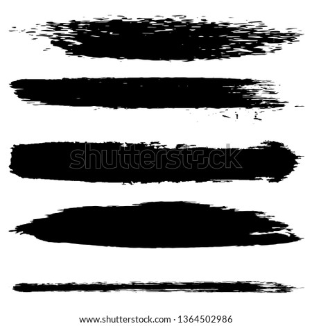 Collection of vector brush strokes dry #1364502986
