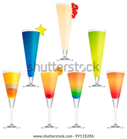 Collection of vector cocktails