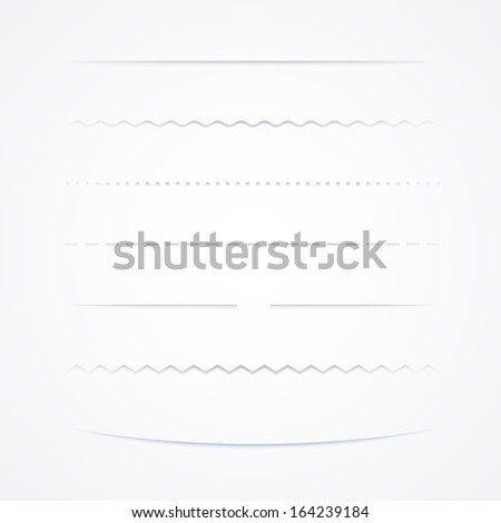 Collection Of Vector Dividers, Isolated On White Background