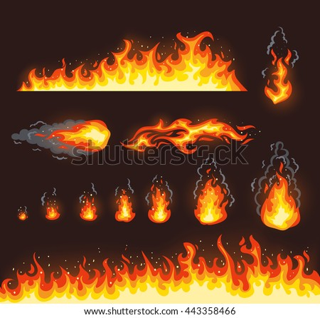 collection of vector fire