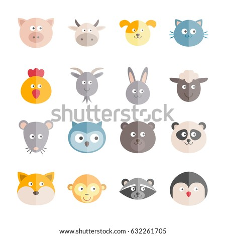 collection of vector flat
