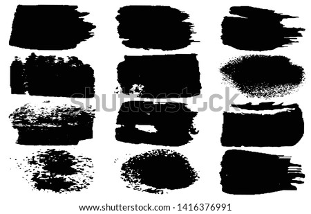 Collection of vector grunge style brushes