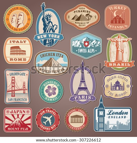 collection of vector labels...