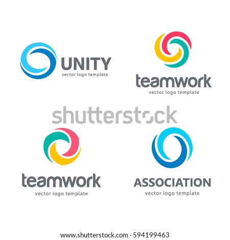 Collection of vector logos for your business. Association, Alliance, Unity, Team Work