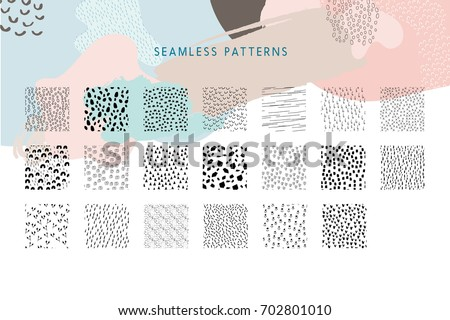 collection of vector seamless