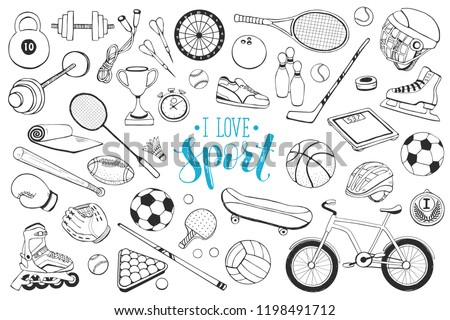 collection of vector sport