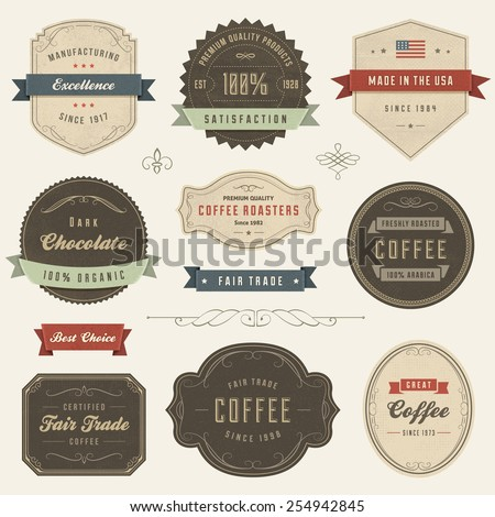 collection of vector vintage